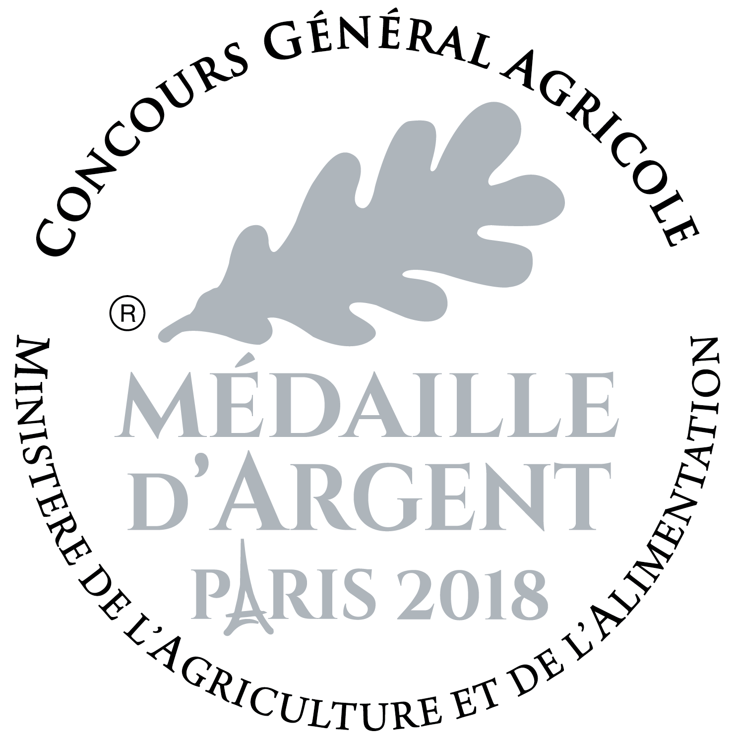Médaile d'Argent au CGA Paris 2018