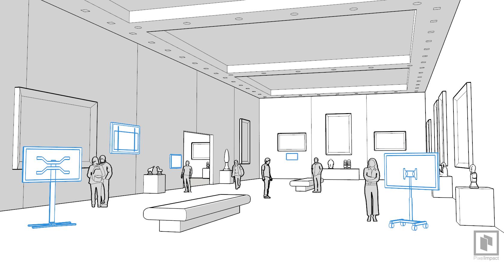 affichage dynamique musée