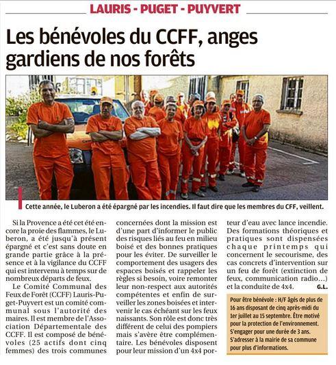 CCFF La Provence du 10 septembre 2021