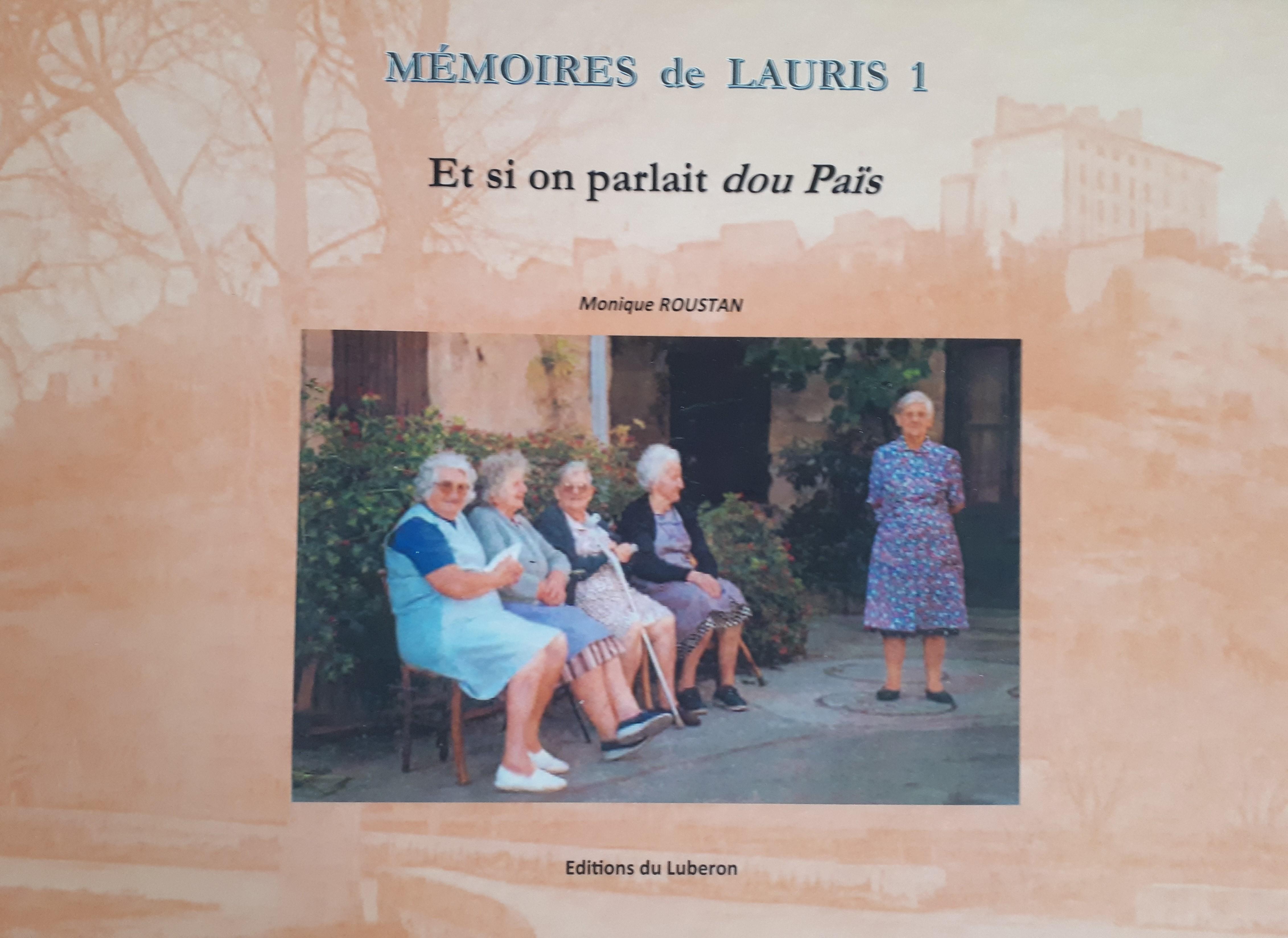 livre Monique Roustan Mémoires de Lauris 1